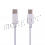 6ft Type-C to Type-C Fast Charging Data Cable for iPad Pro 11 (2018)/ Pro 11 (2020)/ Pro 12.9 (3rd Gen)/ Pro 12.9 (4th Gen)/ MacBook/ Samsung/ Google/ LG (Super High Quality) - White