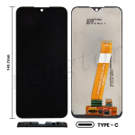LCD Screen Digitizer Assembly for Samsung Galaxy A01(2019) A015(Narrow FPC Connector) (for America Version) (Size 143.7mm) - Black