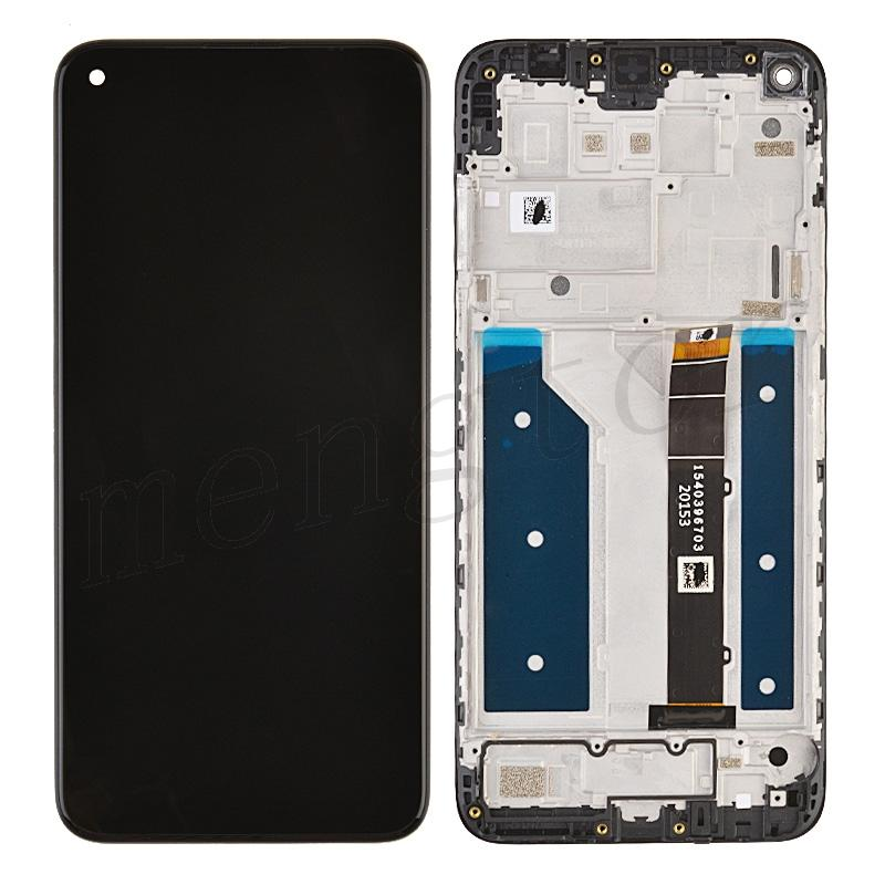 LCD Screen Digitizer Assembly with Frame for LG K61 - Black