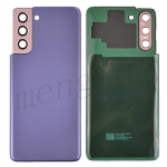 Back Cover with Camera Glass Lens and Adhesive Tape for Samsung Galaxy S21 5G G991 (for SAMSUNG) - Phantom Violet