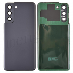 Back Cover with Camera Glass Lens and Adhesive Tape for Samsung Galaxy S21 5G G991 (for SAMSUNG) - Phantom Gray