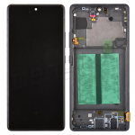 LCD Screen Digitizer Assembly With Frame for Samsung Galaxy A71 5G A716 - Prism Cube Black
